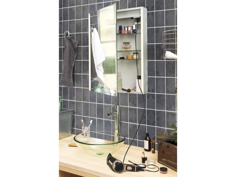 Armoire de toilette aluminium - modèle nev 50 - 70 cm x 50 ...