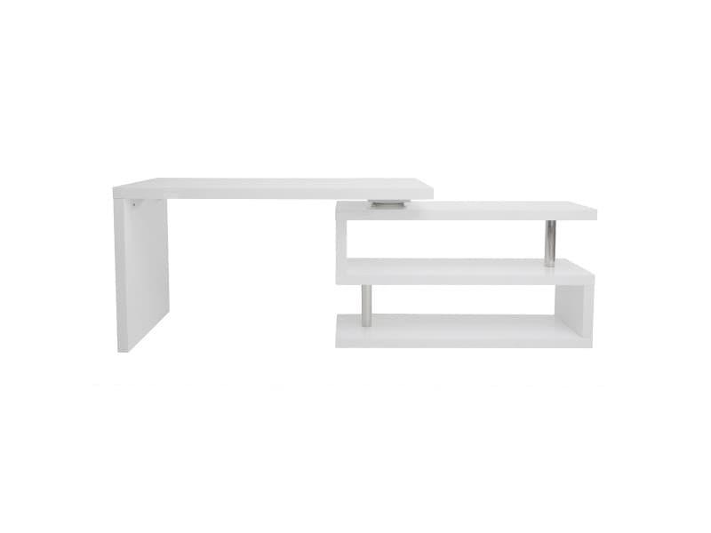 Bureau design blanc laqué modulable max vente de bureau conforama