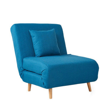 fauteuil convertible lit 1 place adron couleur bleu. Black Bedroom Furniture Sets. Home Design Ideas