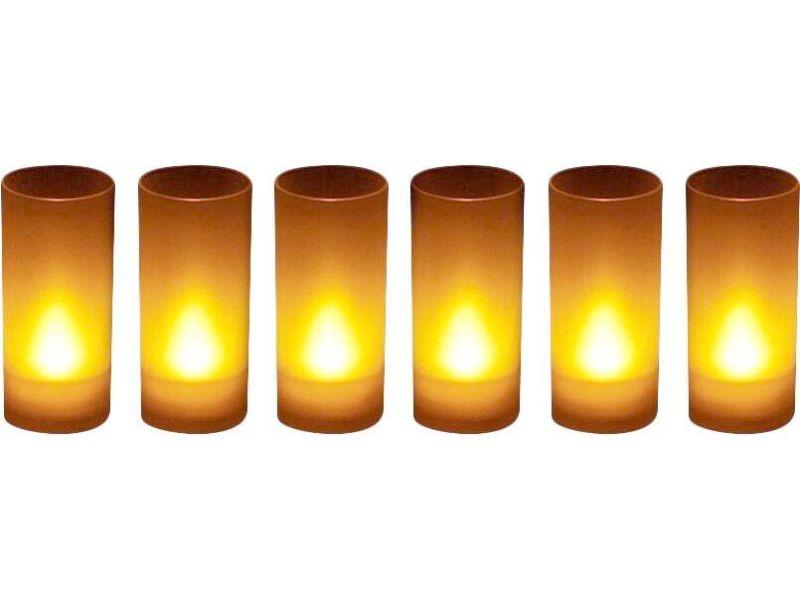 Bougies led souffle (lot de 6)
