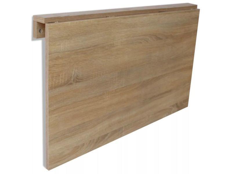 Vidaxl Table Murale Rabattable En Chene 100 X 60 Cm 243053 Vente