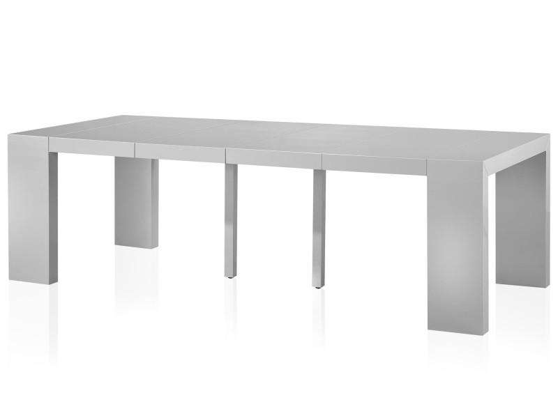 Table console nassau xl gris carbone vente de menzzo conforama