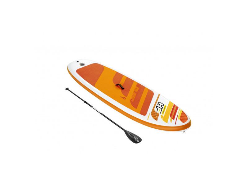 Paddle sup gonflable - hydro-force aqua journey - l 274 cm x l 76 cm x h 12 cm - orange