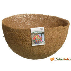 Natte en coco préformée pour corbeille suspendue ø25cm