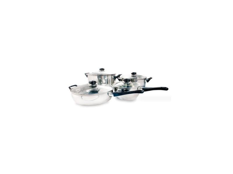 Batterie de cuisine inox (12 pièces)