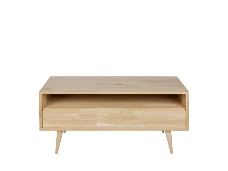 Tygo - meuble tv design chêne massif - couleur - chêne 370158-E
