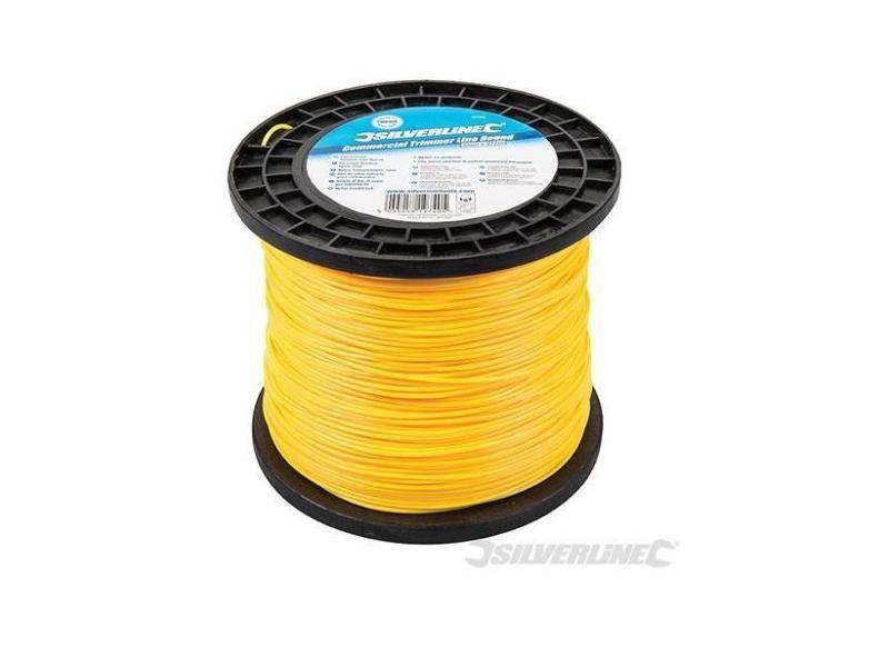 Silverline - fil coupe-bordure nylon rond 2 mm x 377 m - 427692