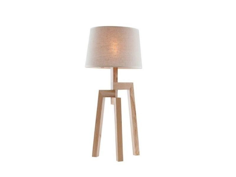 Lampe De Chevet Tris Bois Blanc En Bois Pvc Pour Bureau