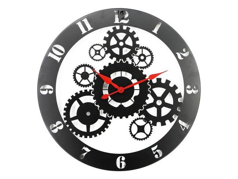 Horloges murales et de table superbe montre bois mdf/métal (60 x 3,5 x 60 cm)