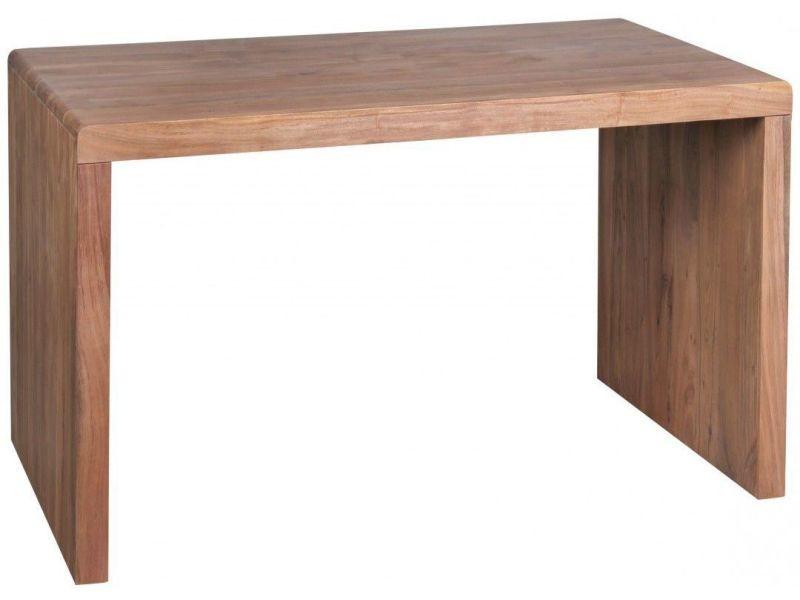 Bureau en bois massif  cm coloris acacia collection c