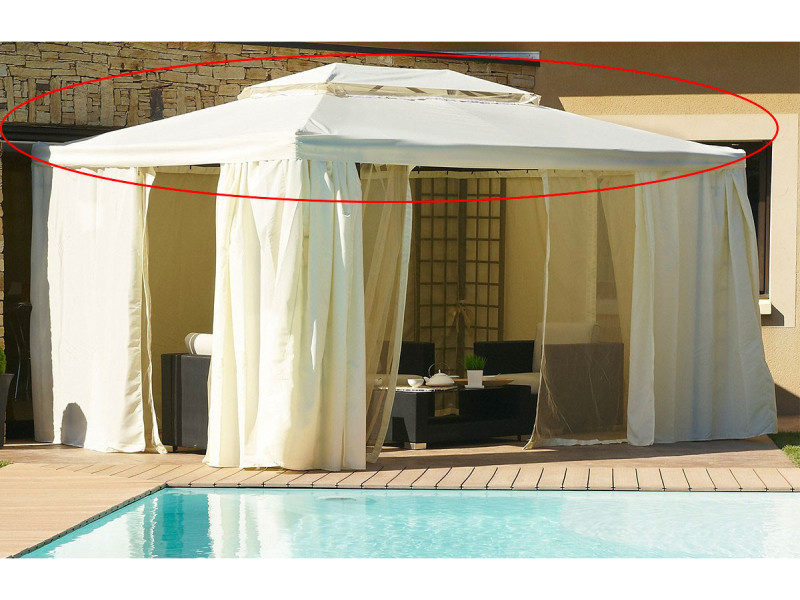 toile de toit pour tonnelle 4x3 m vente de parasol. Black Bedroom Furniture Sets. Home Design Ideas