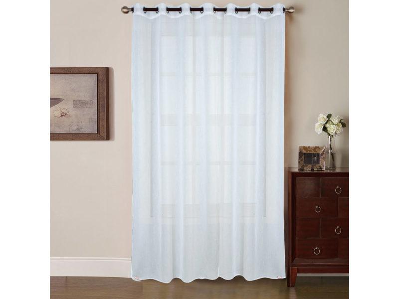 voilage grande largeur brillant blanc dimensions. Black Bedroom Furniture Sets. Home Design Ideas