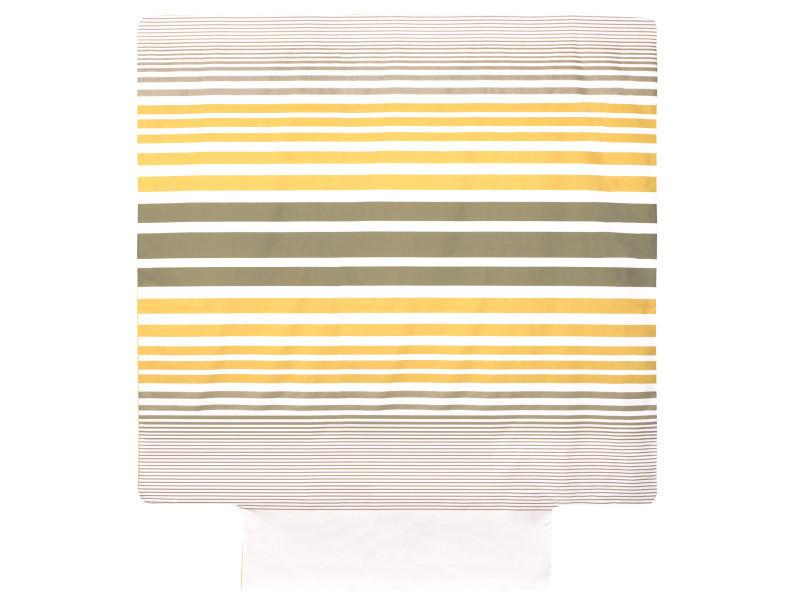 Housse de couette 280x240 cm percale pur coton stripe narcisse jaune - Vente  de LINNEA - Conforama 140af2ca4e4