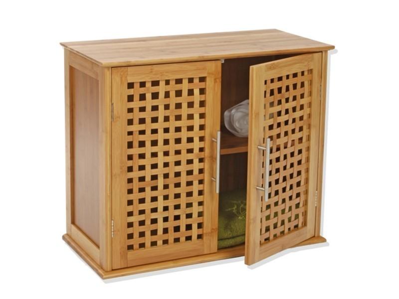 Etagère de salle de bain - 2 portes - Gamme bambou - Vente de ...