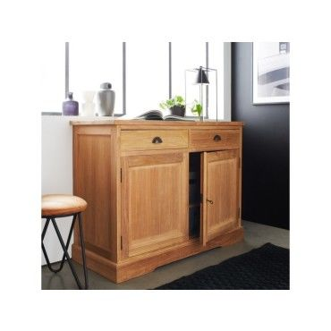 Buffet en bois de teck 120 boston vente de buffet bahut for Vaisselier cuisine conforama