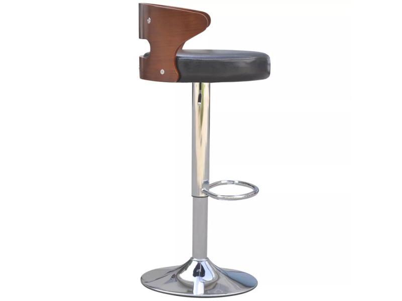 Vidaxl tabouret de bar 2 pcs avec cadre en bois cuir synthétique noir.  prevnext e5e2d34aeaca