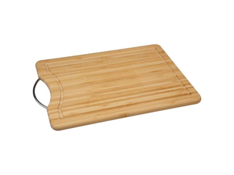 Planche à découper en bambou avec poignée