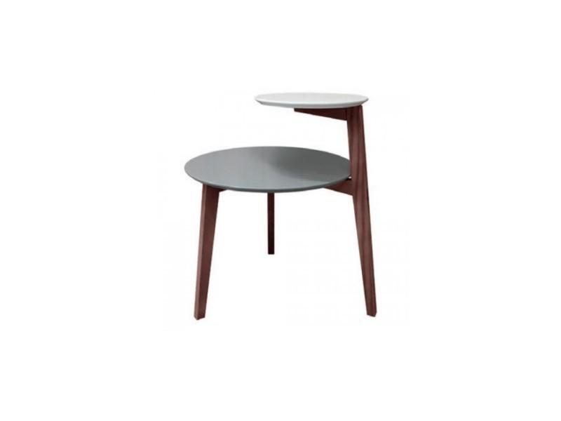 Table basse double plateau bois scandi