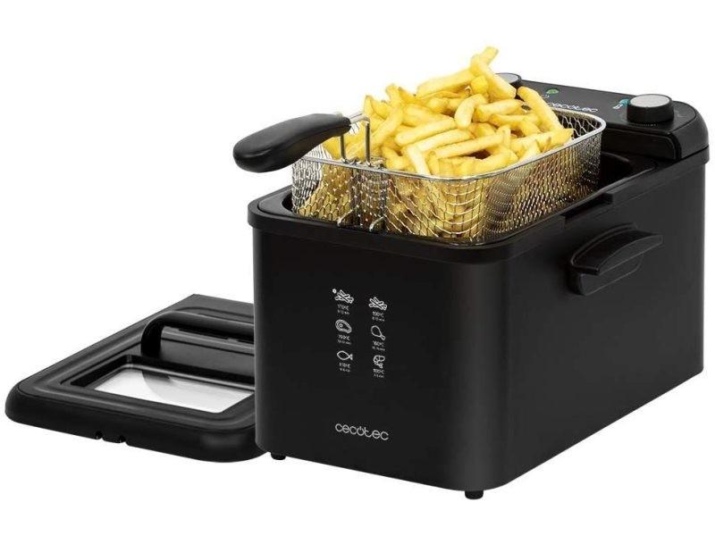 Friteuse électrique de 4l 3270w noir