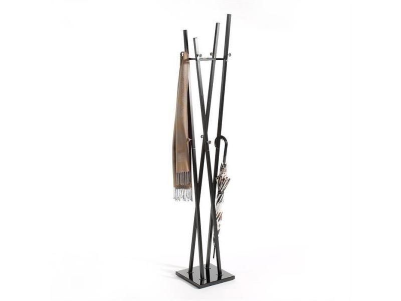 Porte-manteaux vitus portant à vêtements design contemporain structure en métal laqué noir