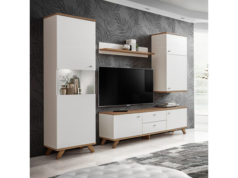 sweden ensemble tv style scandinave vente de meuble tv conforama. Black Bedroom Furniture Sets. Home Design Ideas