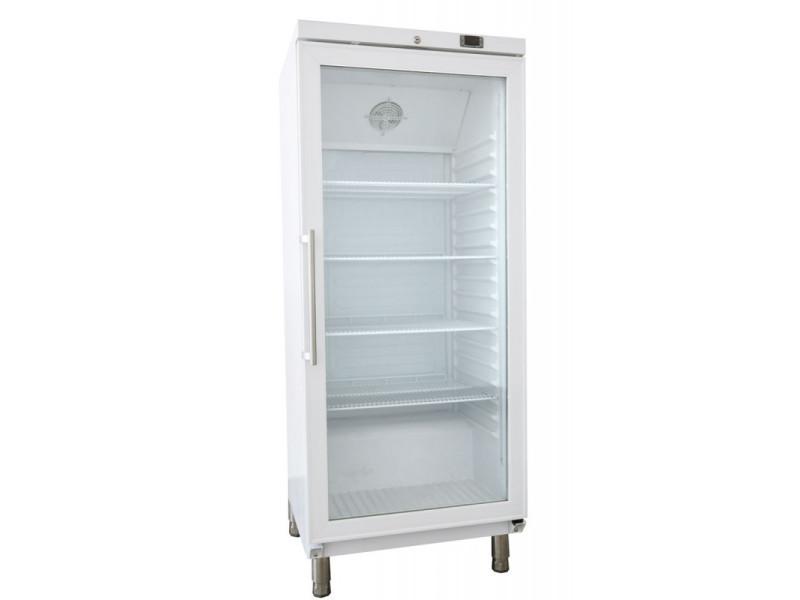 Armoire positive pâtissière blanche porte vitrée - 400 litres - r600a 1 porte vitrée