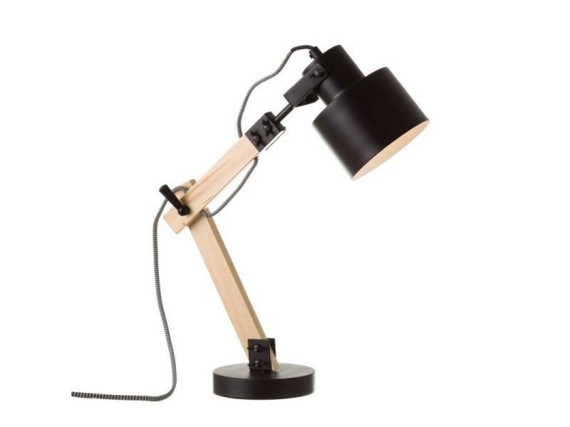 Lampe de bureau flexo en bois et métal noir tendencio vente de