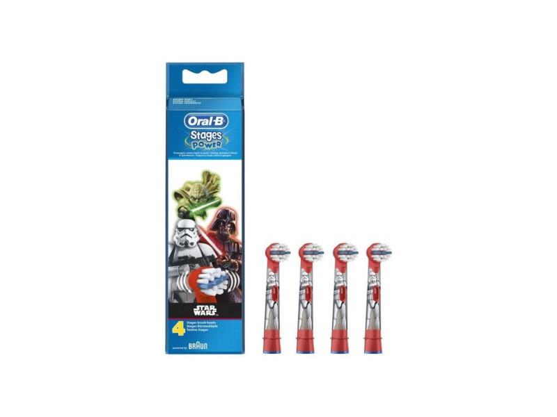 Brossettes de rechange pour brosse a dents électrique - star wars x4 ORASTARWARSX4