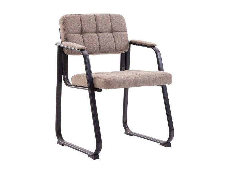 date de sortie: fb112 612b9 Chaise visiteur fauteuil de bureau sans roulette en tissu ...