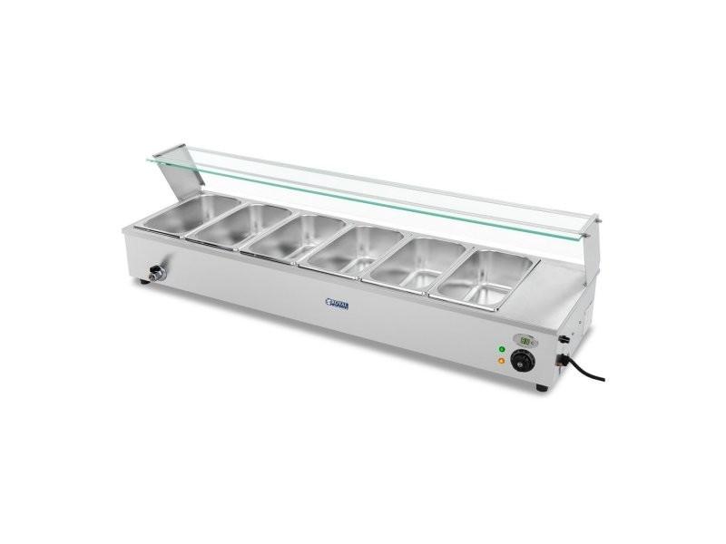 Bain-marie 1 800 watts avec robinet de vidange et 6 bacs gn 1/3 helloshop26 14_0000575