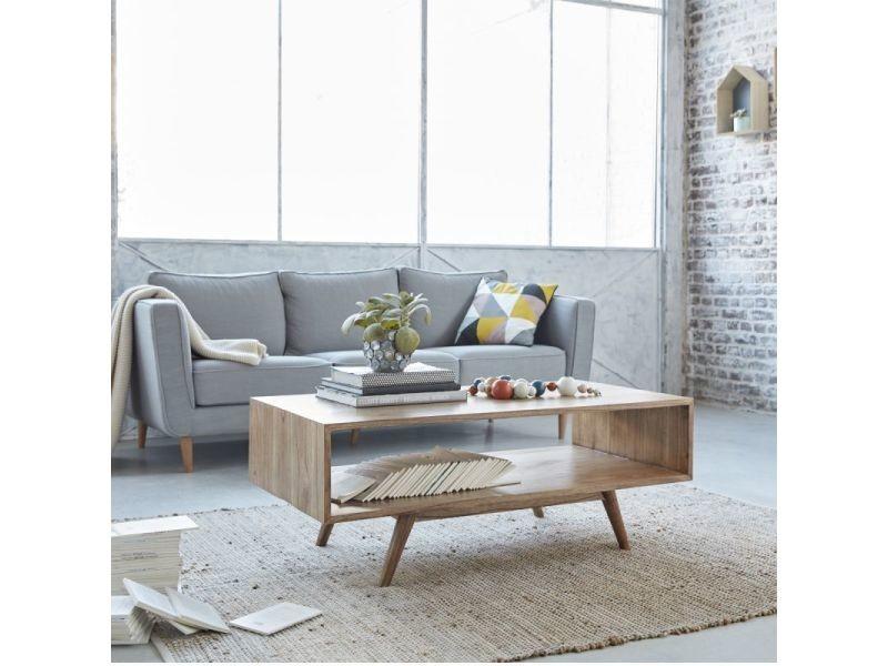 Table basse en bois de mindy double plateau