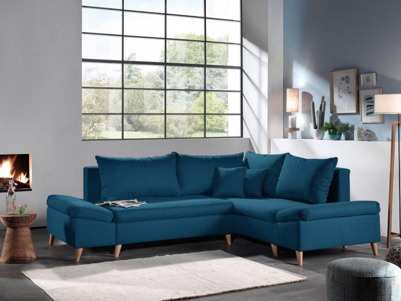rosa canap d 39 angle scandinave droite convertible avec. Black Bedroom Furniture Sets. Home Design Ideas