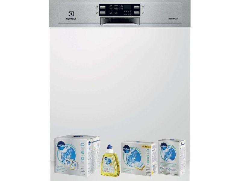 Lave-vaisselle intégrable encastrable bandeau inox 44db 13 couverts 60cm airdry