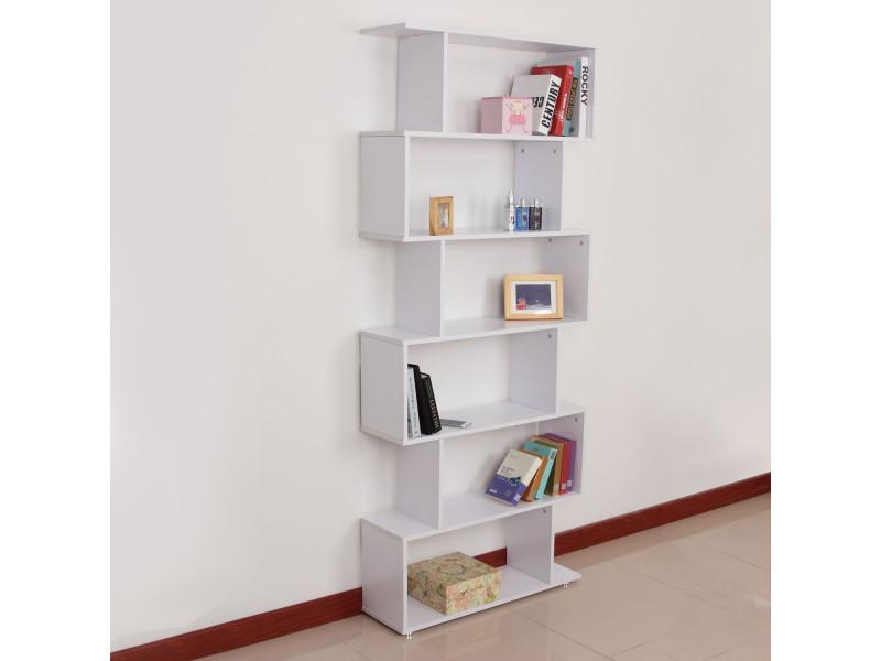 biblioth que tag re zig zag design contemporain 80l x 25l. Black Bedroom Furniture Sets. Home Design Ideas