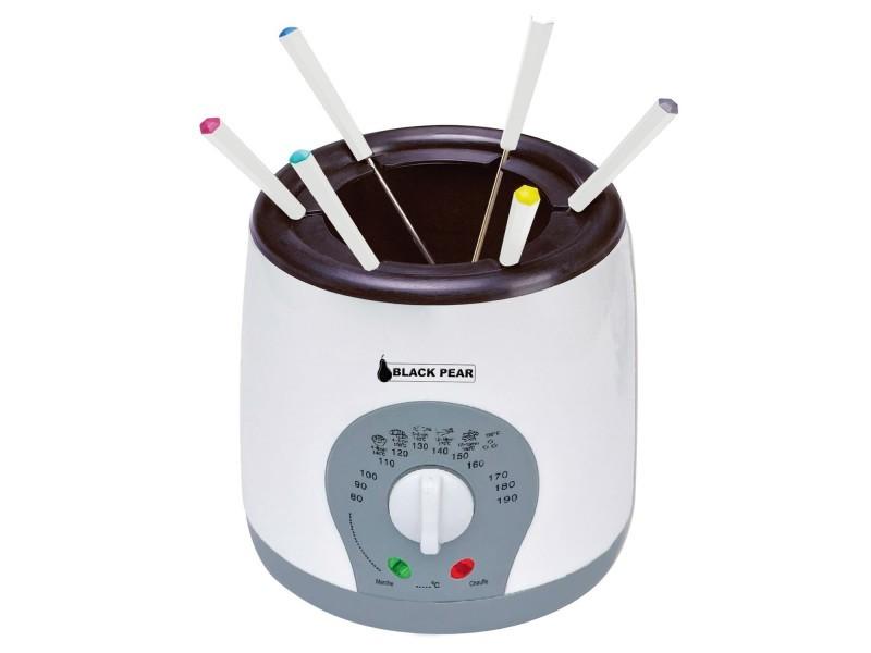 Fondue-friteuse électrique - 1l - 800w - 6 personnes - blacpear bfr090