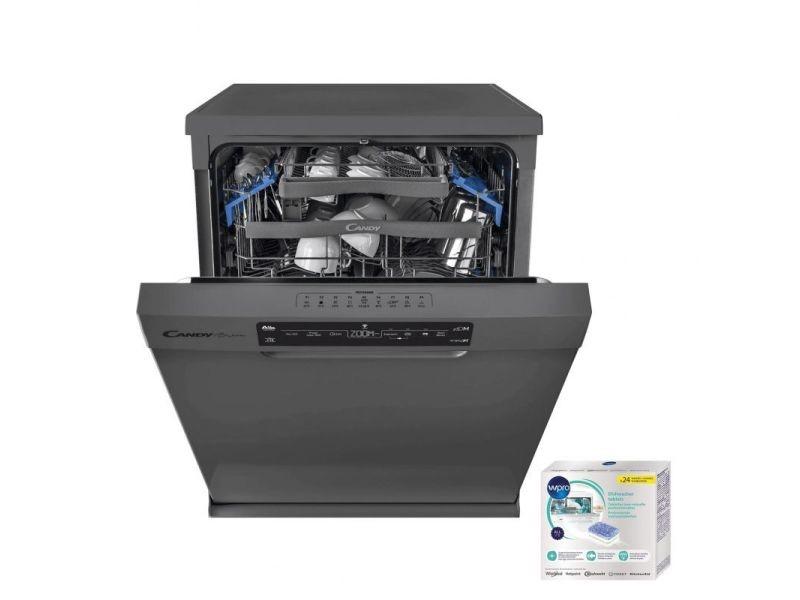 Lave-vaisselle posable inox 43db a++ 15 couverts 60cm départ différé add-dish