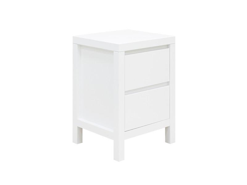 Chevet 2 tiroirs corsica - blanc