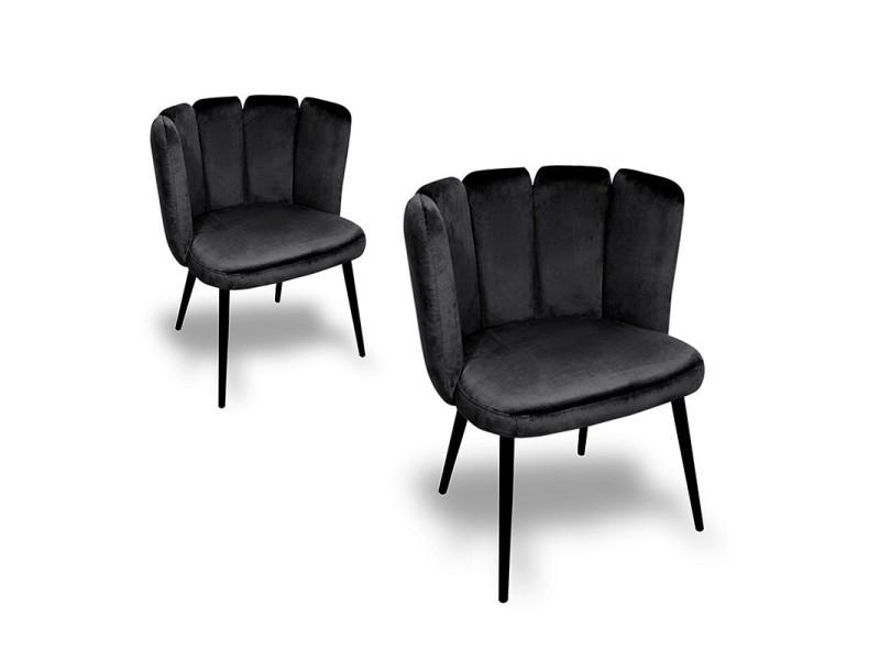 Chaise de salle à manger x2 belair - noir