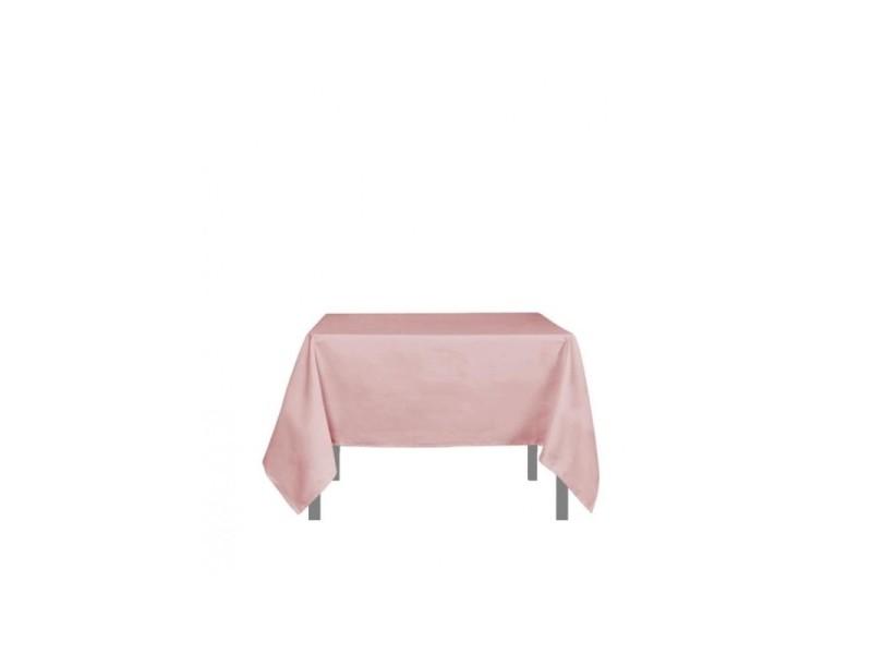 Nappe carré anti-tâches alix - l 180 x l 180 cm - rose