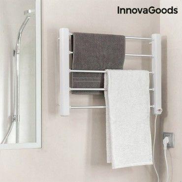 Porte serviettes lectrique mural 65w blanc gris 5 barres Porte serviettes chauffant