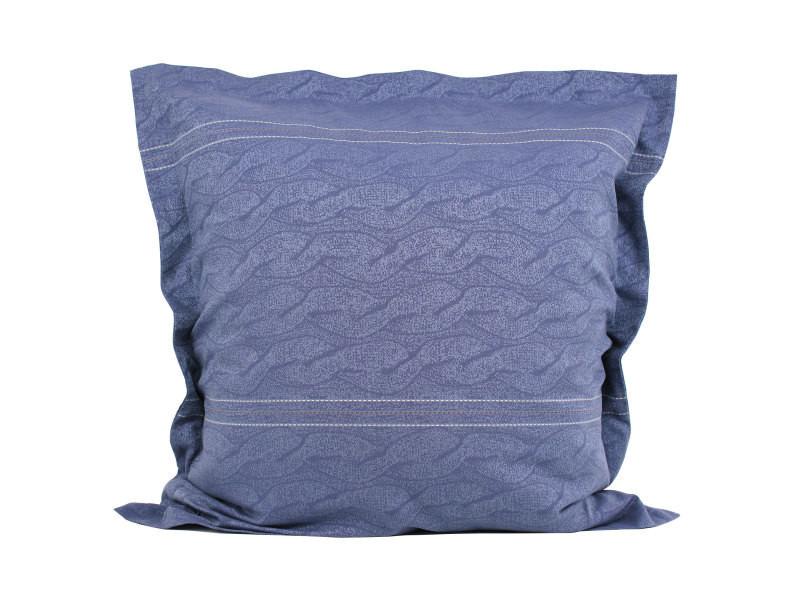 taie d 39 oreiller 65x65 cm satin de coton vendome bleu fonc vente de linnea conforama. Black Bedroom Furniture Sets. Home Design Ideas