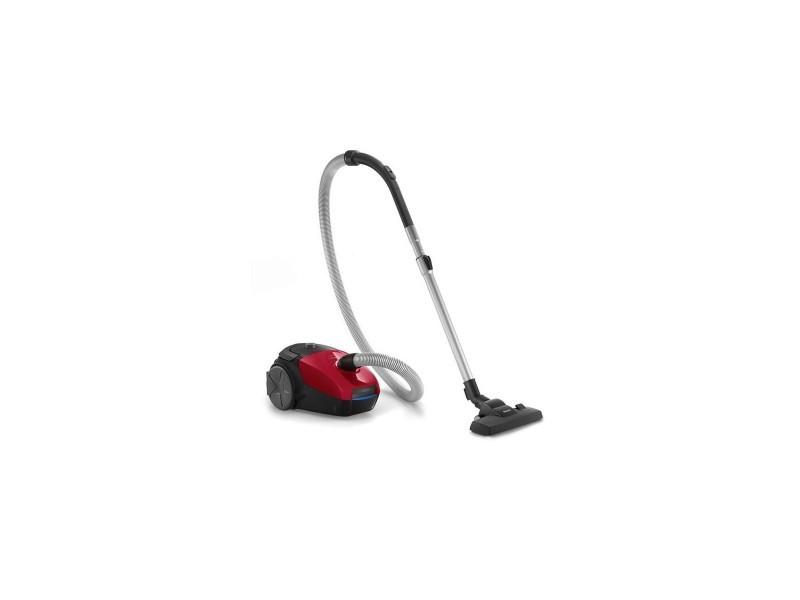 Aspirateur avec sac 3l rouge sportif classe a 79db 27.4kw/an rayon 9m