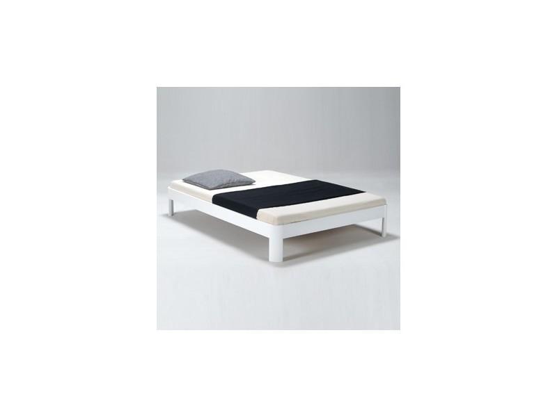 lit rondo 140x200 1 sommier blanc 32419z conforama. Black Bedroom Furniture Sets. Home Design Ideas