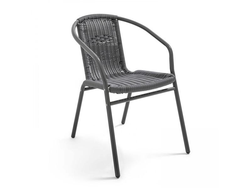 Chaise de jardin aluminium et résine