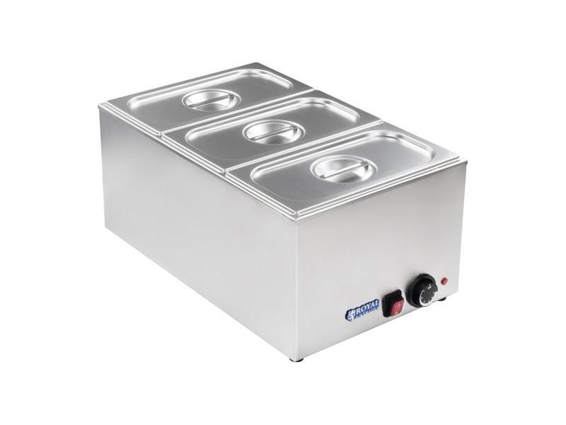 Bain-marie électrique professionnel bac gn 1/3 1 200 watts helloshop26 3614101
