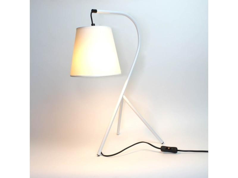 Campana Chevet Lampe Blanc Vente Trépied Meubletmoi De Design SUMpVqz