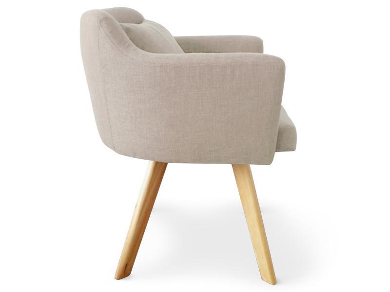 chaise fauteuil scandinave dantes tissu beige vente de menzzo conforama. Black Bedroom Furniture Sets. Home Design Ideas