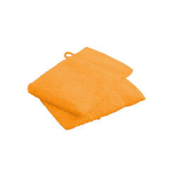 Gants de toilette vendange d'orange 100% coton