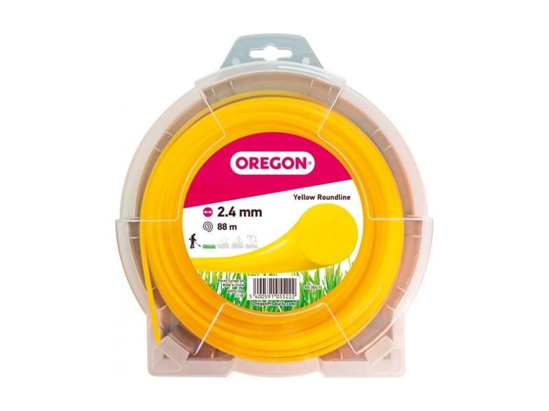 Fil rond jaune 2.4mm 88m 545052
