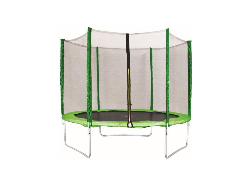 Trampoline extérieur ø 2,44 m 150 kg filet de sécurité 180cm tapis de saut 6 poteaux rembourrés